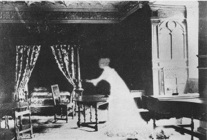 Black & white photograph of a ghost